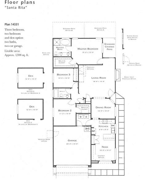 floor plan holder santa rita model floor plan