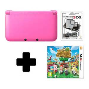 nintendo xl console nintendo 3ds xl pink console animal crossing new leaf