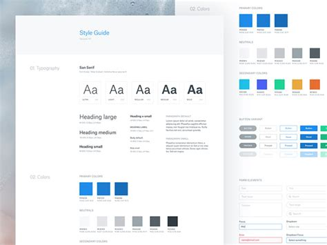 40 great exles of ui style guides web graphic design