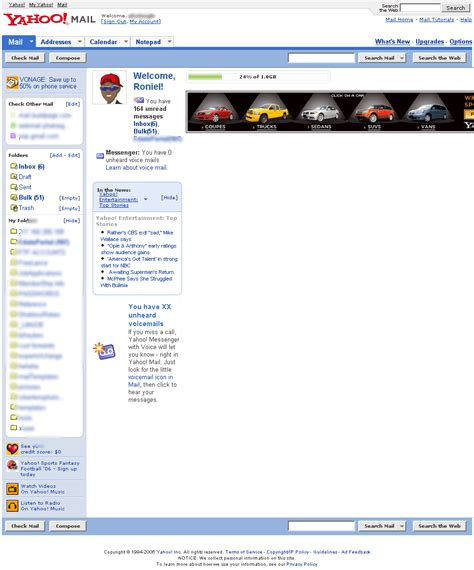 yahoo page layout yahoo mail yahoomail com redgage