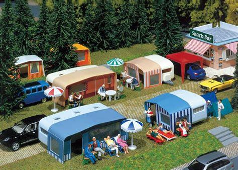 Faller Countrysite Decor Acceessories Miniature Building Ho Scale faller 130503 set of cing caravans