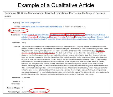 templates of articles evaluating journal articles education research for
