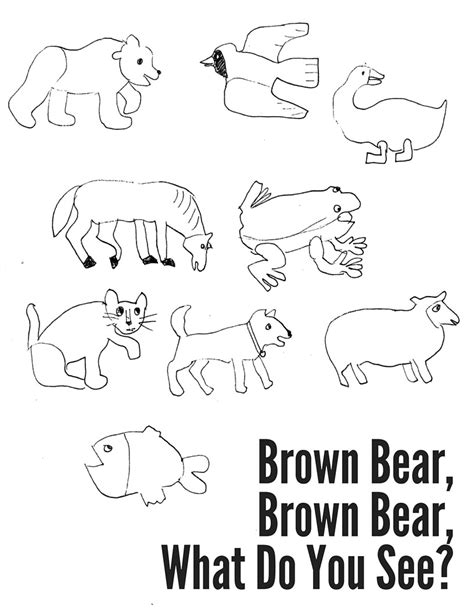 coloring pages of brown bear brown bear brown bear what do you see coloring pages