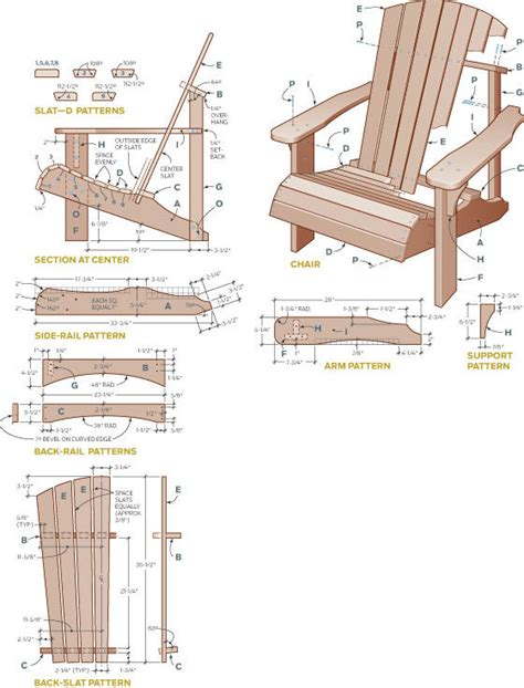 wood adirondack chair plans free templates pdf plans