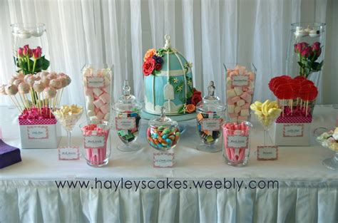 Cake Decorations At Home candy amp cake buffet tables hayley s cakes