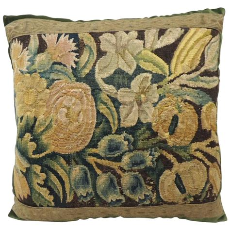 Tapestry Pillows by Antique Flemish Verdure Tapestry Pillow At 1stdibs