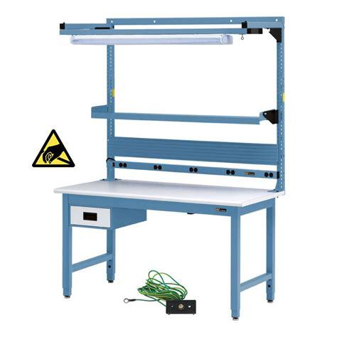iac benches iac workbench w 6 drawer electrical shelf light 30 36 quot x 48 72 quot equipmax