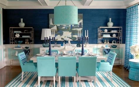 Maritimes dining room set ? aqua colors and symbols of the