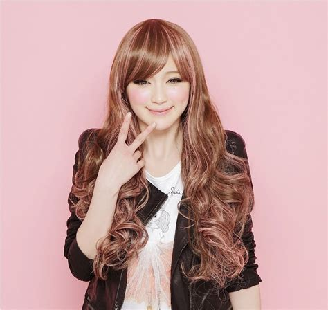 new fashion brown wig s wavy shun 15 new style brown wig curly