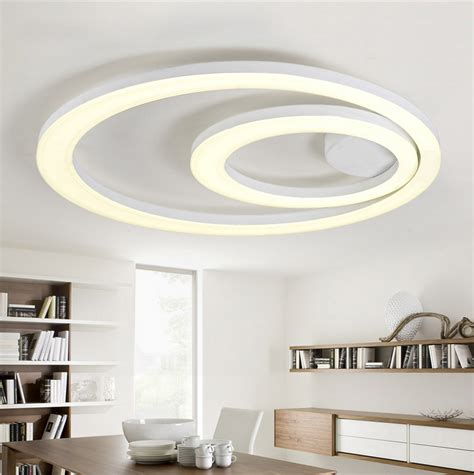 Kitchen Ceiling Light Fixtures White Acrylic Led Ceiling Light Fixture Flush Mount L Restaurant Dining Room Foyer Kitchen