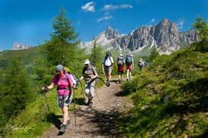 Dolomite mountains italy hiking
