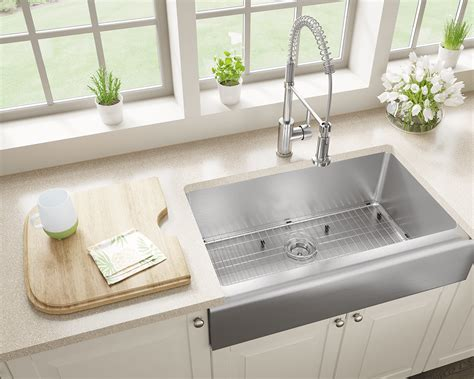 stainless steel farm sink stainless steel sinks and faucets for kitchens and baths