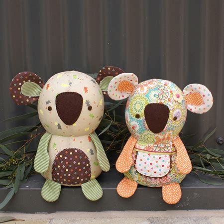 Patchwork Toys Free Patterns - koala softie sewing pattern by melly me