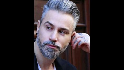 long hairstyles for men with salt and pepper salt and pepper beard man hairstyles youtube