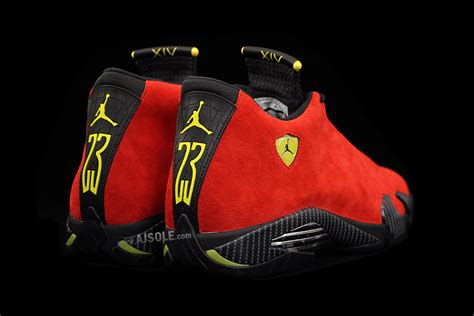 retro ferrari closer look at the air jordan 14 quot ferrari quot sbd