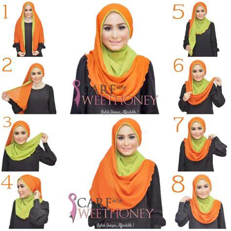 Jilbab Segi Empat Dua Lapis Til Cantik Dengan Segi Empat Dua Lapis Poloskaos D