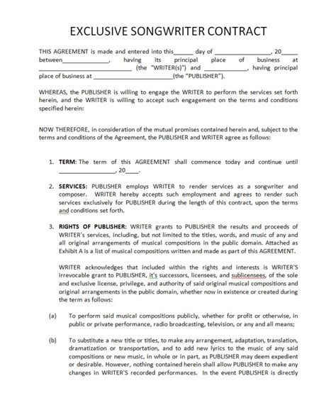 Label Agreement Template 28 Images Label Agreement Template New Label 13 Free Sle Label Exclusive Songwriter Agreement Template