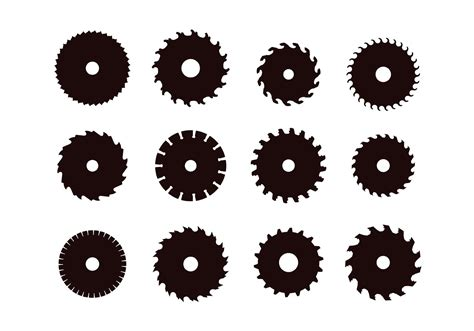 Circular Saw Blade Silhouettes   Download Free Vector Art, Stock Graphics & Images