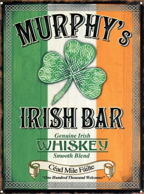 Comic Wall Murals murphy s irish bar genuine irish whiskey tin sign buy