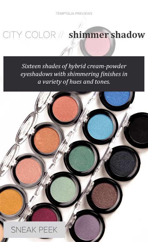 city color eyeshadow city color shimmer shadow eyeshadow review swatches