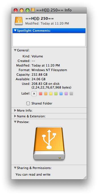 mac os x format external hard drive ntfs mac os x tricks tips for beginners how to gain read write