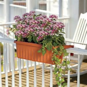 24 quot adjustable railing planter box set of 2 improvements catalog