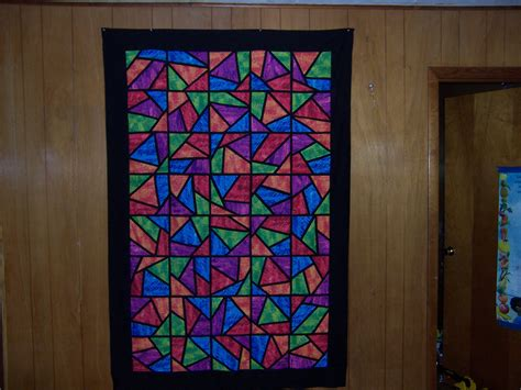 Stained Glass Quilting by How To Quilt A Stained Glass Stack And Whack