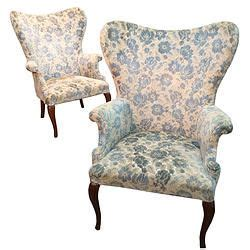 Butterfly Wing Back Chair by 6458 Pair Butterfly Wing Back Chairs Rooms Of Blue