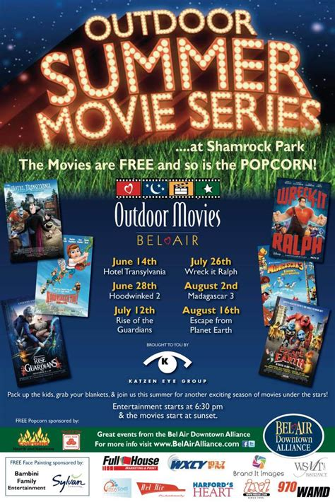 Outdoor Movie Night Flyer Template Outdoor Furniture Design And Ideas Outdoor Flyer Template