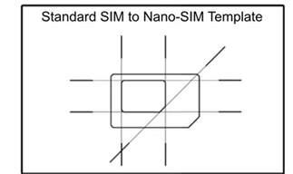 Sim Card Cut Template by Micro Sim To Nano Sim Template Sim Cutting Guide