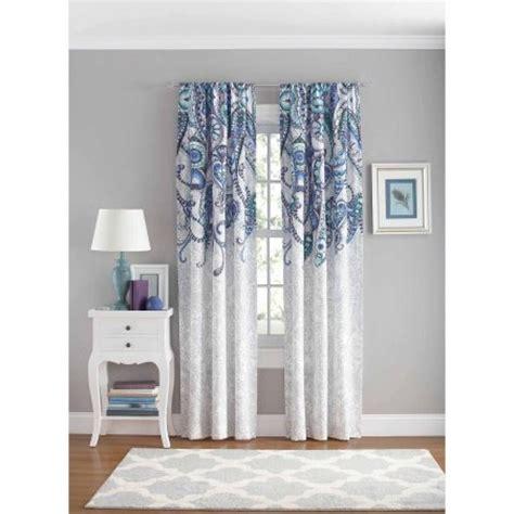 walmart bedroom curtains your zone paisley bedroom curtain panel walmart