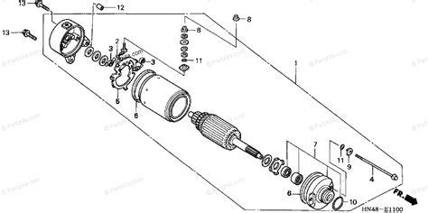 honda atv  oem parts diagram  starter motor partzillacom