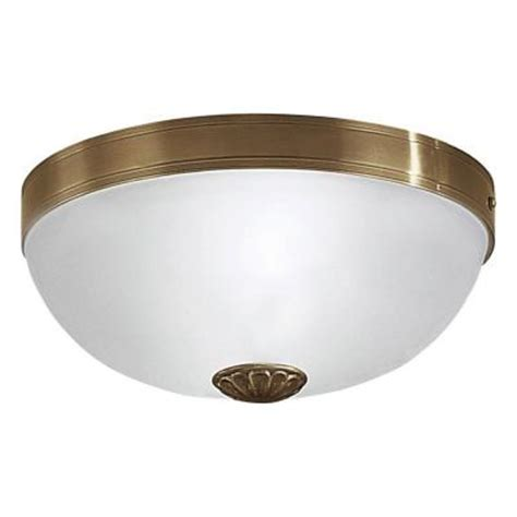 eglo imperial 2 light flush mount ceiling burnished brass