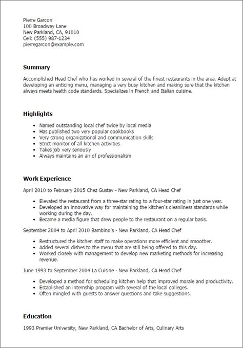 culinary student resume best resume collection