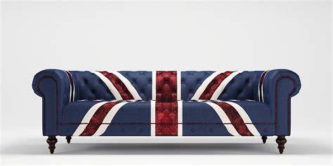 union jack settee union jack 3 seater sofa 3d model max obj 3ds fbx mtl