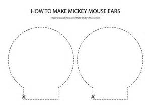 teddy ears headband template free for mickey mouse ears template