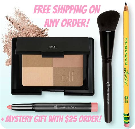 A Free Shipping Mystery - e l f cosmetics free shipping on any order free
