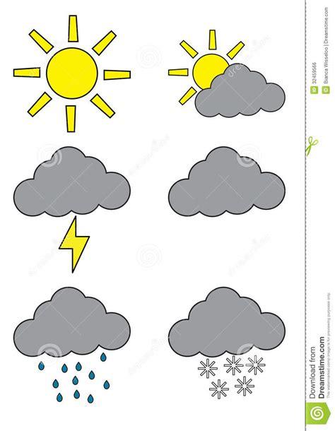 Prognoza Pogody Symbole Obraz Royalty Free Obraz 32459566