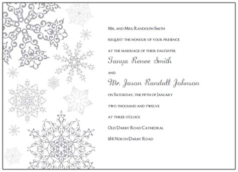 winter invitation template free snowflake printables new calendar template site