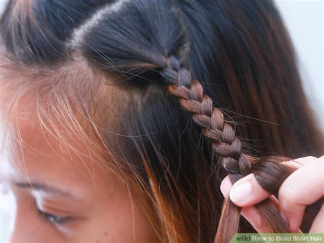 whats the best way to braid hair for sew in weave how to braid short hair with pictures wikihow
