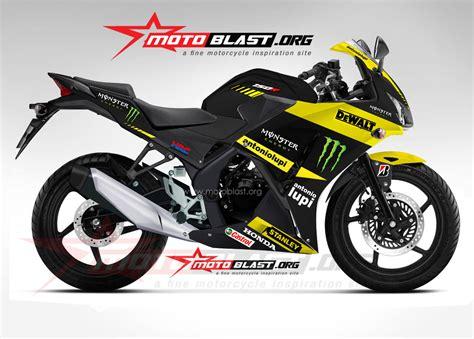 Striping Honda Beat Lama Motogp Tech3 modif striping honda cbr150r black tech3 motogp