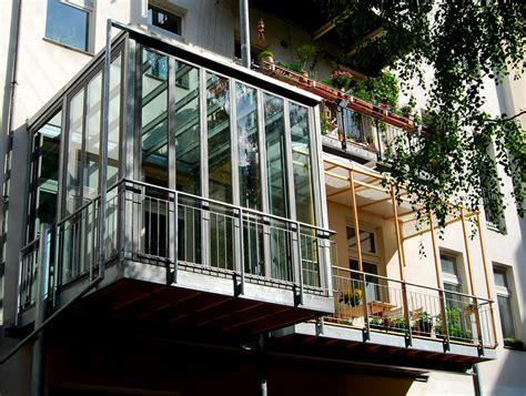 Balkon Wintergarten by Balkon Mit Wintergarten Stahlblau