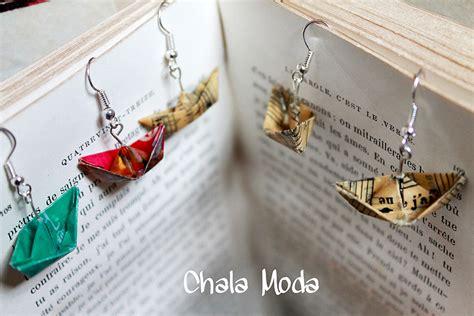 bijoux origami bijoux origami originaux bateaux et grues de qualite