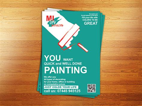 painting template painter flyer template on behance