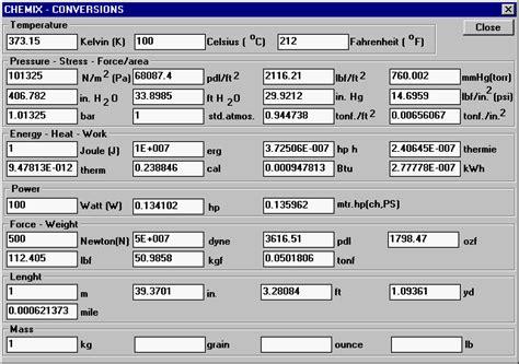 calculator conversion temperature conversion chart