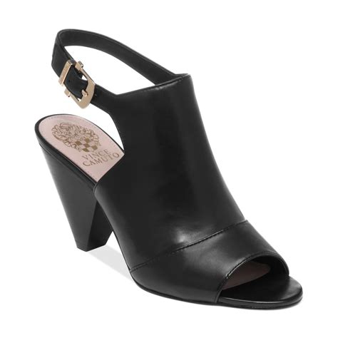 black sandals lyst vince camuto erro sandals in black