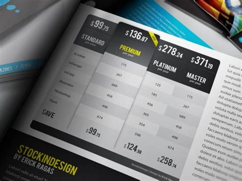 Table Styles Of Indesign Archives Stockindesign Indesign Table Styles Templates Free