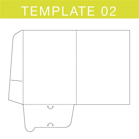 interlocking card template folder templates