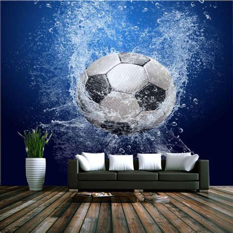 football murals for bedrooms aliexpress com buy modern 3d wallpaper football photo