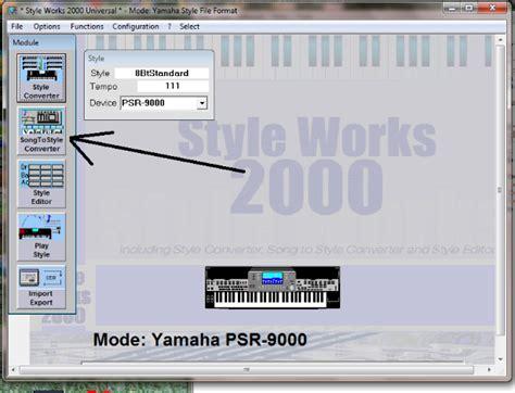 style format 2 converter yamaha style creation tutorial emc